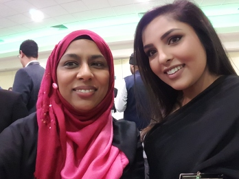 Me and Neelam Hanif, one of the Assistant Branch Managers